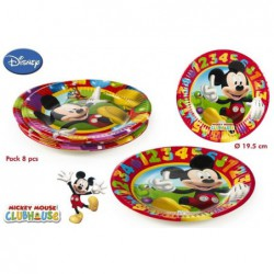 PACK 8 PLATOS MICKEY,...