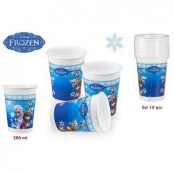 Pack de 10 vasos Frozen de...