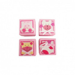 Set 24 Cajitas Baby Rosas...