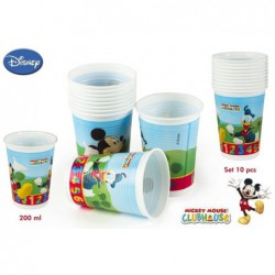 PACK 10 VASOS MICKEY 200ML,...