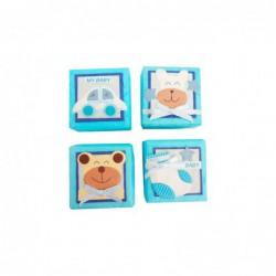 Set 24 Cajitas Baby Azules...