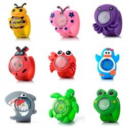 RELOJ INFANTIL ANIMALES 3D...